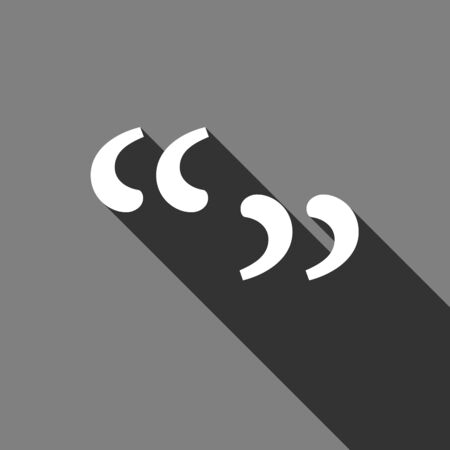 Quote sign icon. Quotation mark symbol. Double quotes at the beginning of words. Vector illustration eps 10