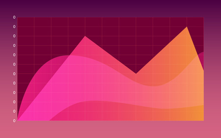 Infographic dashboard template with flat design graphs in colorful themes Иллюстрация