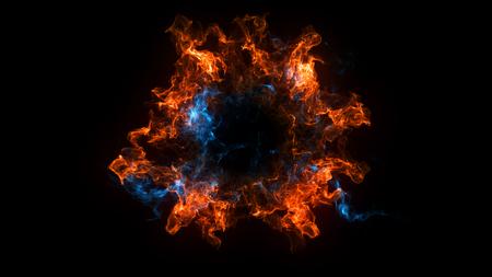 Fondo abstracto con la explosión de Shockwave en el contexto negro. Tecnología 3d render Foto de archivo - 83342852