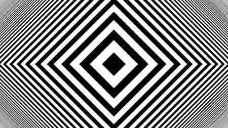 Hypnotic Rhythmic Movement Black And White stripes. 3d rendered