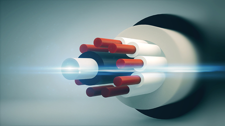 Computer graphics cable. Technology background. 3d rendering Reklamní fotografie