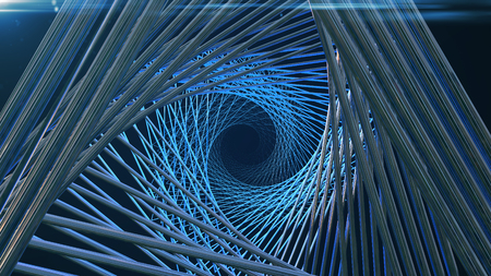 Abstract background with technology tunnel. 3d rendering