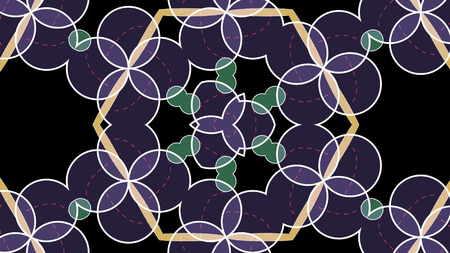 レトロな kaleida 抽象的な背景。3 D レンダリング