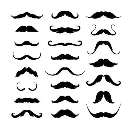 Mustaches icons set. Vector illustration EPS 10 Иллюстрация
