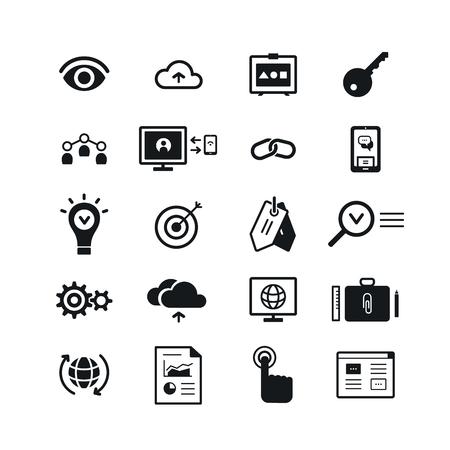 SEO icons set. Vector illustration EPS 10