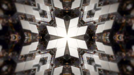 lightbar: Abstract background with technology kaleidoscope. 3d rendering