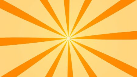 Abstract background with animation of sun beams. Retro radial background. 3d rendering.