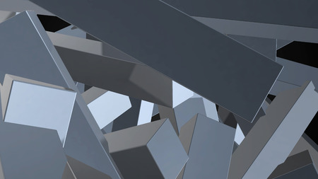 Abstract background with chaotic elements. 3d rendering.