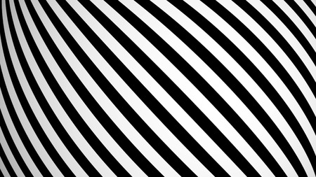 vj: Animated background with white and black lines. 3d rendering Stock Photo