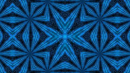 vj: Abstract light kaleidoscope. Digital illustration. 3d rendering Stock Photo