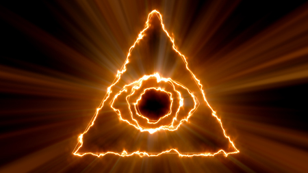 Abstract background with Eye of Providence. 3d rendering