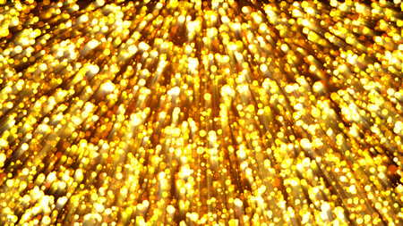 Abstract gold background. Digital backdrop. 3d rendering Stock Photo