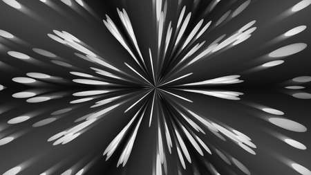 vj: Abstract background with silver kaleidoscope. 3d rendering