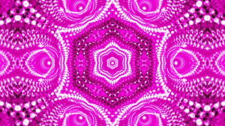 vj: Abstract background with violete kaleidoscope. 3d rendering Stock Photo