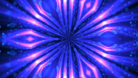 VJ Fractal glowing kaleidoscopic background. Background motion with fractal design. 3d rendering