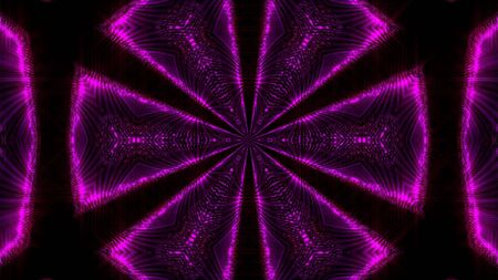 Purple abstract kaleidoscope background. Digital illustration. 3d rendering Stock Photo