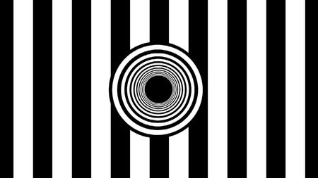 Abstract Black and White stripes. 3d rendering background