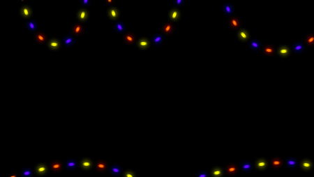 flashing christmas lights on black background 3d rendering stock photo 91230638