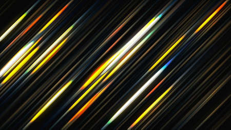Abstract glowing lines. 3d rendering colorful background. Technology concept