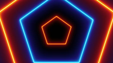 Abstract neon polygonal background. 3d rendering backdrop Banque d'images