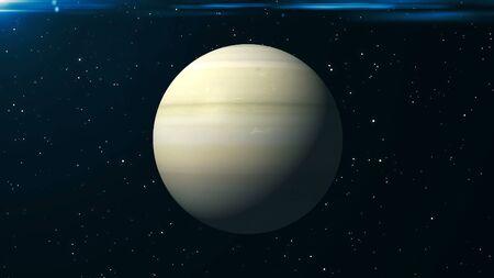 Saturn background. 3d rendering digital backdrop. Space backdrop Stock Photo
