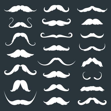 Mustaches icons set. Isolated symbol EPS 10.