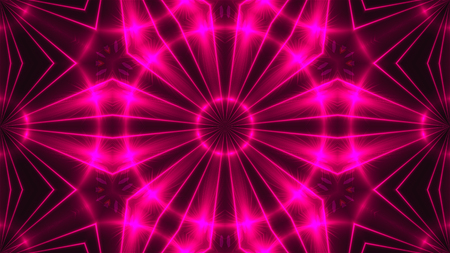 Abstract background with VJ Fractal purple kaleidoscopic. 3d rendering digital backdrop.