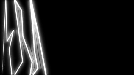 Stroke shining broken lines, abstract computer generated backdrop, 3D rendering Banco de Imagens