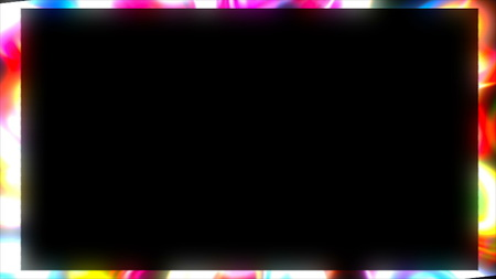 Bright frame. Dynamic border with shiny abstract art, 3d rendering background, element for design, computer generating