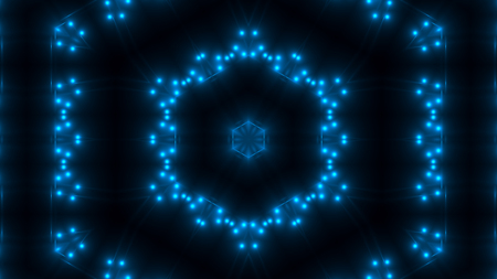 Beautiful abstract kaleidoscope - fractal blue light, 3d rendering backdrop, computer generating background