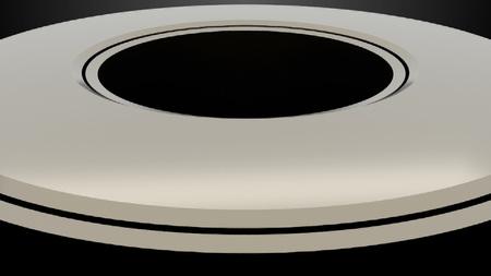 Model of metal wheels in space, 3d rendering background, computer generating