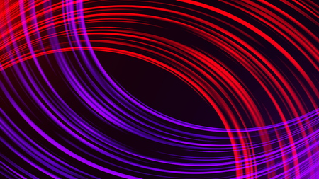 Many bright band lines, abstract computer generated backdrop, 3D rendering