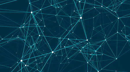 Abstract connections are in space. Background with connecting dots and lines. Connection structure. Vector illustration Illustration