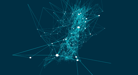 Abstract connections are in space. Background with connecting dots and lines. Connection structure. Vector illustration Иллюстрация