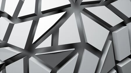3d geometry stylish shapes, 3d abstract modern background, computer generated
