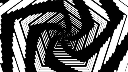 Abstract geometric white strokes, spiral rotating lines, computer generated background, 3D rendering background