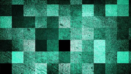 Modern grunge abstract background with squares, 3d rendering computer generated backdrop