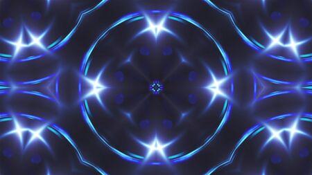 Abstract blue fractal lights, 3d rendering backdrop, computer generating background