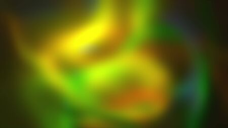 3D rendering, computer generated abstract black background with colored nebula in the form of a blurry spot