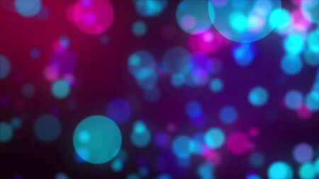 Abstract background with multicolored transparent circles bokeh. Computer generated 3d rendering