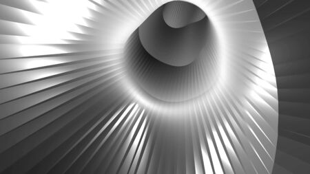 Abstract swirl cartoon style tunnel, immitation of trip in universe, computer generated background, 3D rendering