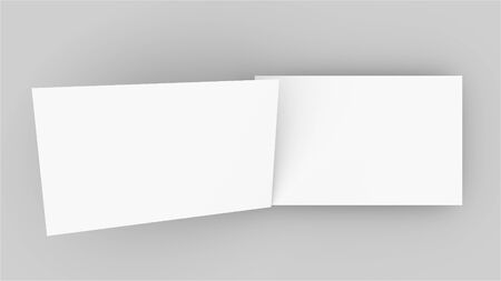 3d rendering business card mockup. Computer generated two vertical rectangular plates in a white background