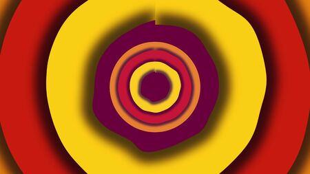 Computer generated a modern background from colored wavy circles. 3D rendering of abstract shapes