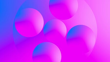 3d render of glowing rings and circles with gradient effect. Computer generated abstract background of vibrance circles