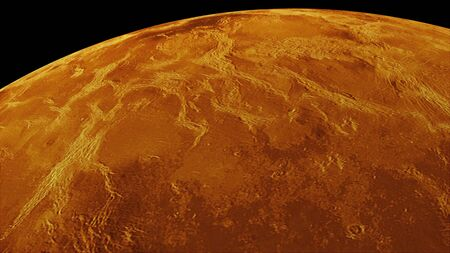 Rotation of the planet Venus, computer generated. 3d rendering of realistic scientific background. Elements of this image are presented by Stock fotó