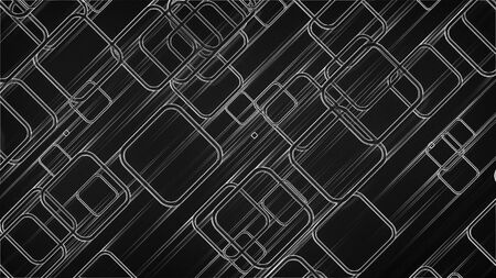 Abstract glow squares and lines, computer generated. 3d rendering of web background Reklamní fotografie