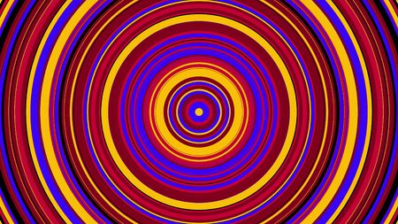 Abstract colorful circle with hypnotic spinning motion, computer generated. 3d rendering of vortex background