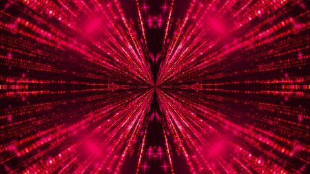 Beautiful abstract symmetry kaleidoscope with shiny neon lines, 3d rendering backdrop, computer generating background Reklamní fotografie