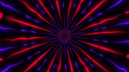 Abstract neon kaleidoscope background, 3d rendering computer generated background Reklamní fotografie