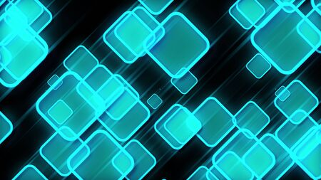 3d rendering abstract squares. Concept of business presentation or events. Computer generated modern web background 免版税图像